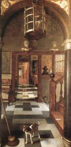 Vista de un corredor | Samuel van Hoogstraten | 1662