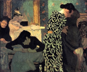 Vestido floreado | Édouard Vuillard | 1891
