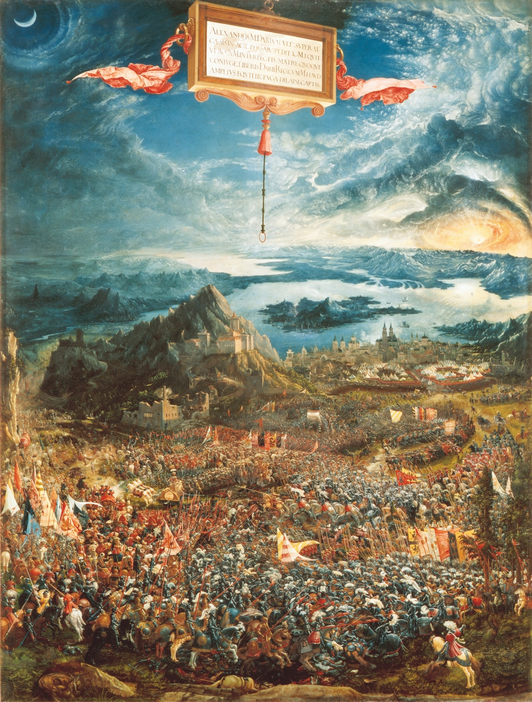 La batalla de alejandro en issos albrecht altdorfer for Battle of issus painting