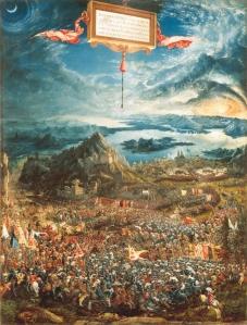La batalla de Alejandro en Issos | Albrecht Altdorfer | 1529