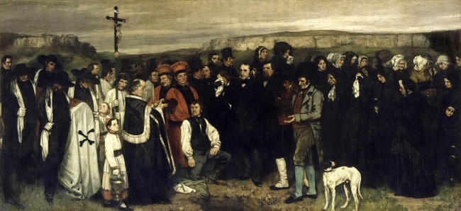 Entierro en Ornans | Gustave Courbet | 1850