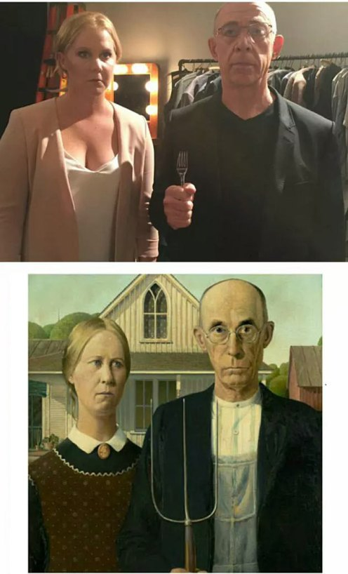 American Gothic | Grant Wood - Reversionado por Amy Schumer y JK Simmons