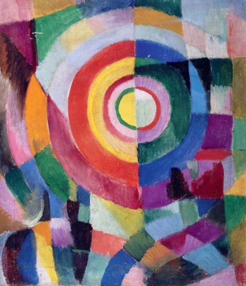 Prismas eléctricos No 14 - Sonia Delaunay - 1914